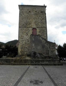 The Templars tower of Dornes, Portugal