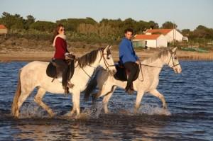 Passeios a cavalo na praia, Melides, Setúbal