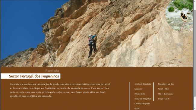 Aventura em Escalada Portugal do Pequeninos