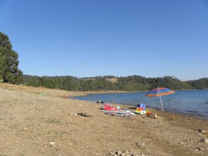 Beach at Montes, Castelo do Bode – river Zezere