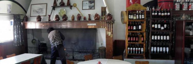 Adiafa restaurant fireplace Winter vacation Portugal