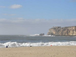 Beach and surf at Nazare