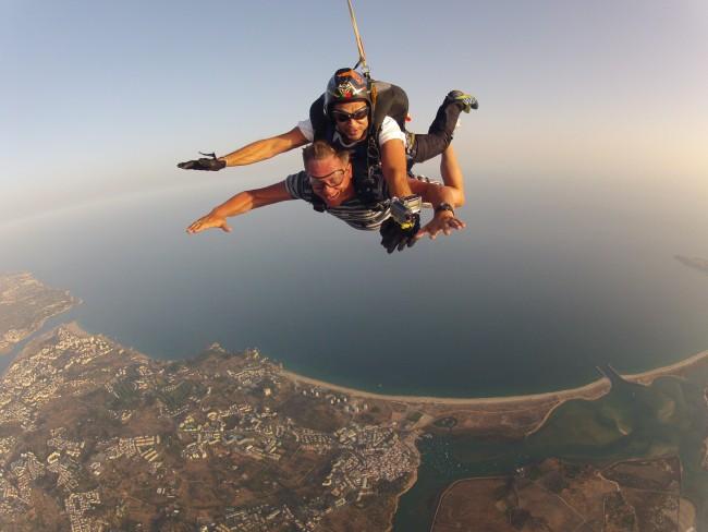 Skydive tandem parachuting Portimão