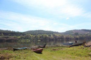 Praia do Ribatejo hike, Fishermans boats