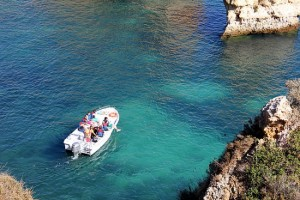 Ponte da Piedade in a glass boat tour, Lagos