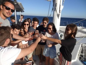 Catamaran charter for large groups (80pax), Sado estuary, Lisbon