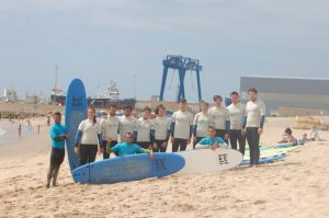 Surf lessons in the world famous surf location of Nazare, Portugal