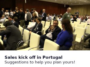 Your Sales kick off event in Portugal
