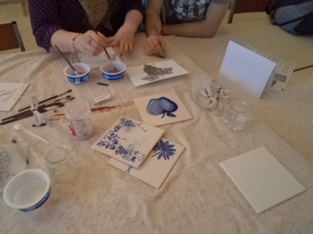 Tile painting workshops, Porto