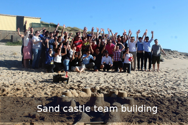 Go Discover sand castle Team building