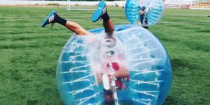 Bubble soccer and nerve ball team building and games for groups